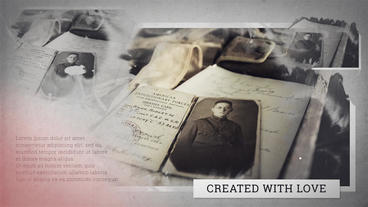 History Slideshow After Effects Template
