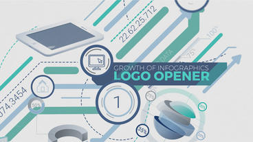 Growth Of Infographics Logo Opener After Effects Template
