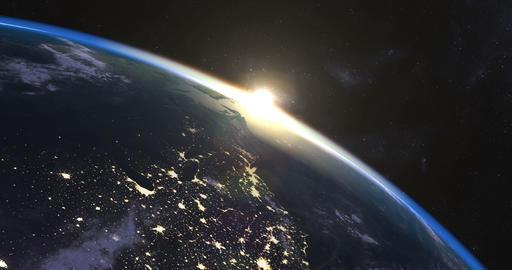 Beautiful sunrise over Earth Bild