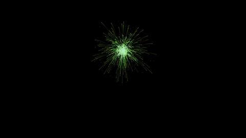 Green firework element 영상물