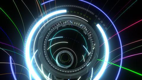 VJ Neon Tunnel Flying Animation
