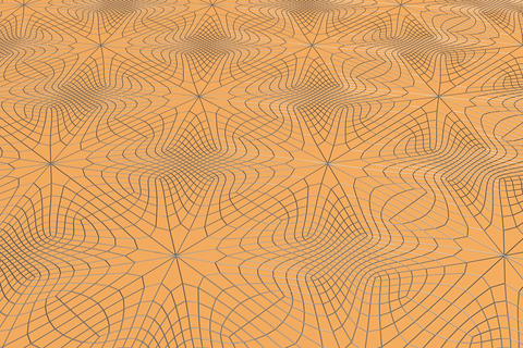 Lines of metal wires on orange surface Foto