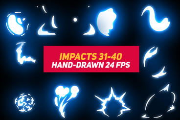 Liquid Elements Impacts 31-40 After Effects Template