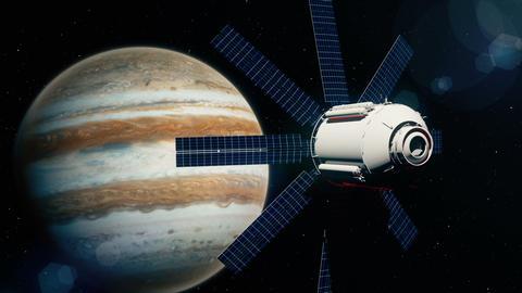 Beautiful realistic satellite in low Jupiter orbit 画像