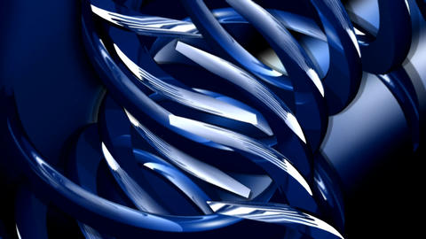 Rotating blue abstract shapes Footage