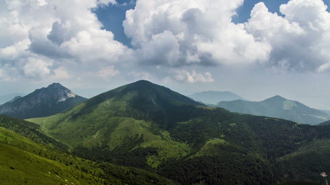Clouds and shadows in mountains time lapse. Storm convection Footage
