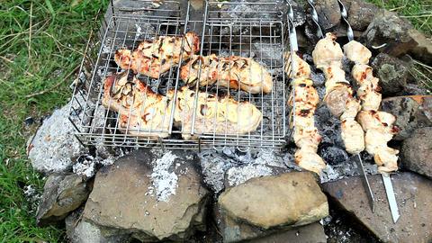 Shish kebab and a barbecue Live Action