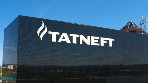 Petrol Producing Company Office with Tatneft Logo Live Action
