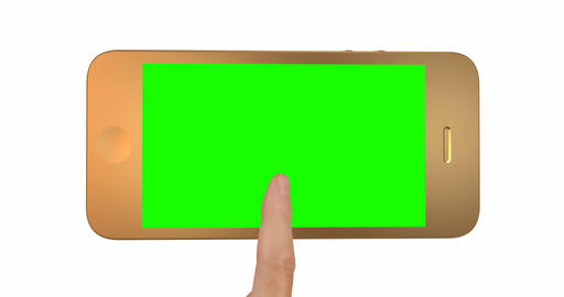 Close-up of hand controls on a green screen smartphone Animation