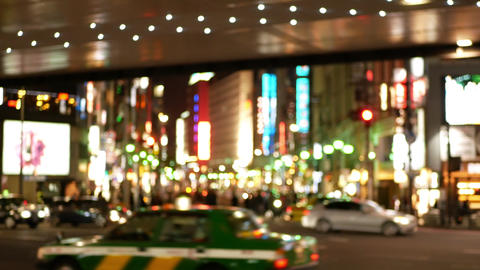 Soft focus - Night view of downtown area of Roppongi intersection Bild