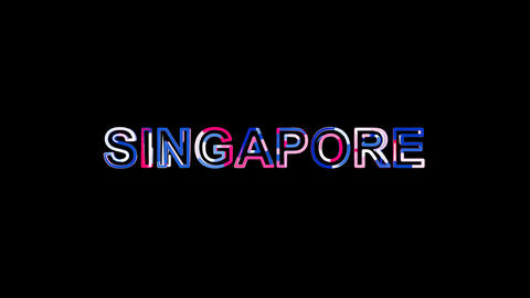 Letters are collected in country name SINGAPORE, then scattered into strips Animation