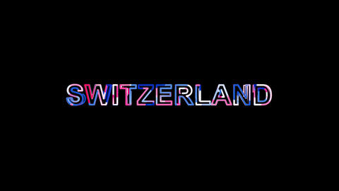 Letters are collected in country name SWITZERLAND, then scattered into strips Animation