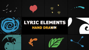 Flash FX Lyric Elements After Effectsテンプレート