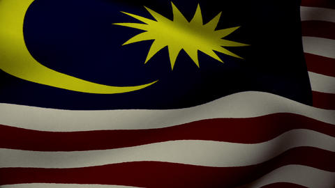 Malaysia Flag Background Animation