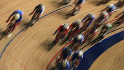 Bicycle race on the track Live Action