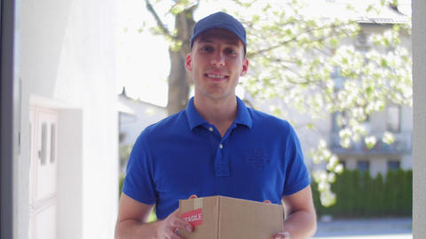 Delivery guy customer POV 04 Footage