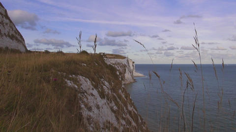 The White cliffs of Dover on a sunny day Footage