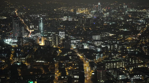 London by night from above - LONDON, ENGLAND Live Action