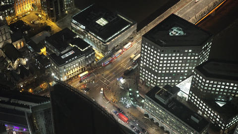 London street traffic from above - LONDON, ENGLAND Live Action