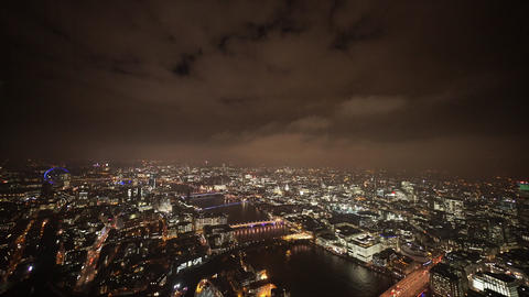 Dramatic sky over London by night - LONDON, ENGLAND Live Action