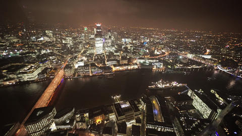 The City Of London East From Aerial View - LONDON, ENGLAND stock footage