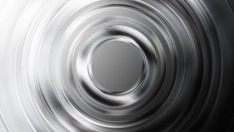 Black and white glossy metallic circles video animation Animation