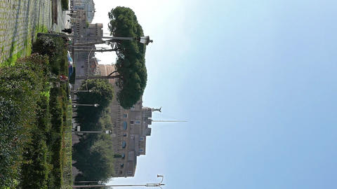 Vertical video. Castle of San Angelo. Rome, ItalyCastle San Angelo. Rome, Italy Live Action