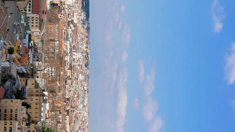 Vertical video. Panorama of Rome. View from Gianikolo. Rome, Italy Live Action