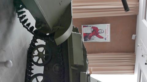 Vertical video. Vintage tanks. Pyshma, Ekaterinburg, Russia ビデオ