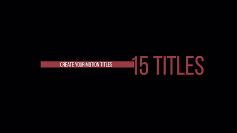 Stylish Titles Pack After Effects Template