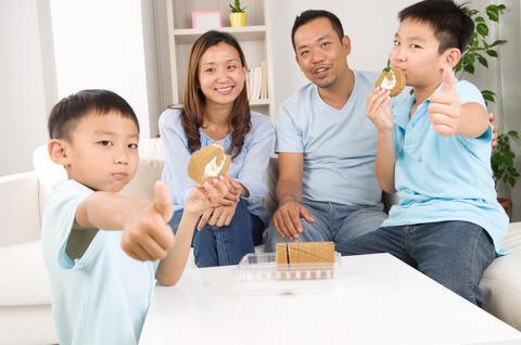 asian family フォト