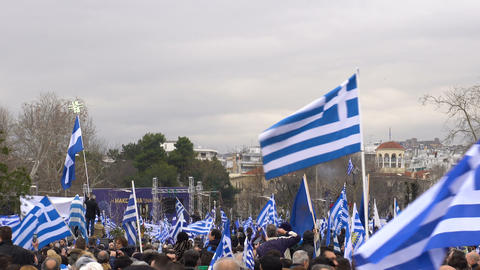 Thessaloniki, Greece protest against use of Macedonia in FYROM name dispute Bild