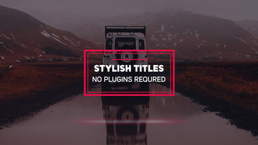 Minimal Titles After Effects Templates