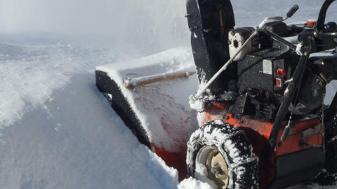 remove the snow with the Alta Badia snowplow, Italy Footage