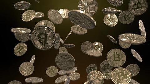 Raining Bitcoins Animation