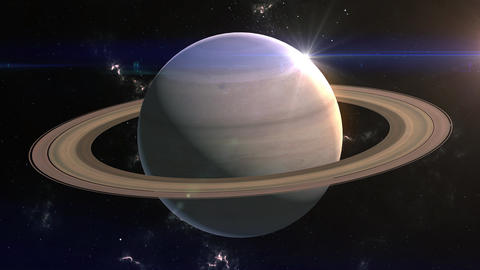 Saturn Reveal in Space Animation