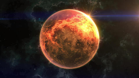 Venus Reveal in Space Animation