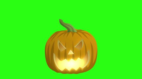 Jack O Lantern On Green Animation