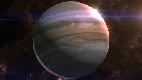 Jupiter Reveal in Space Animation