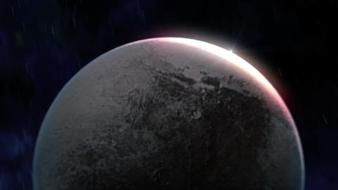 Pluto Reveal in Space Animation