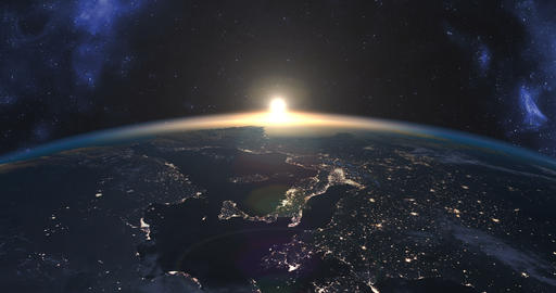 Beautiful footage of sunset over Earth Image