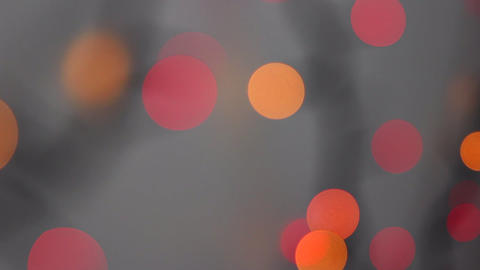 Round Bokeh In Red And Orange Color Footage
