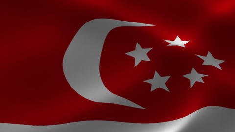 Singapore Flag Loop Animation