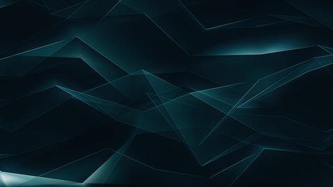 Blue Geometrical Polygonal Refraction Background Loop Animación