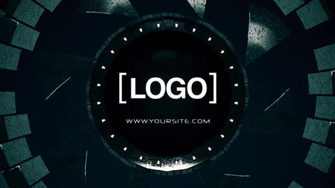 Logo machine reveal v2 After Effects Template