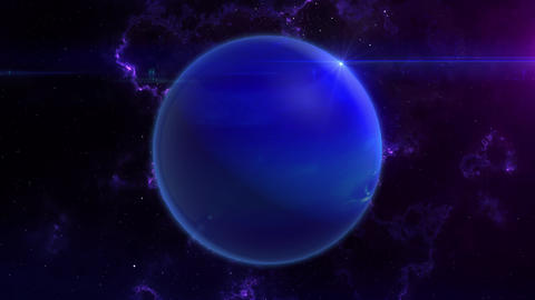 Neptune Reveal in Space Animation
