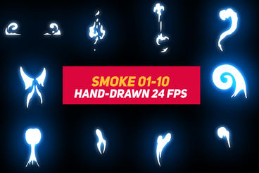 Liquid Elements Smoke 01-10 After Effects Template