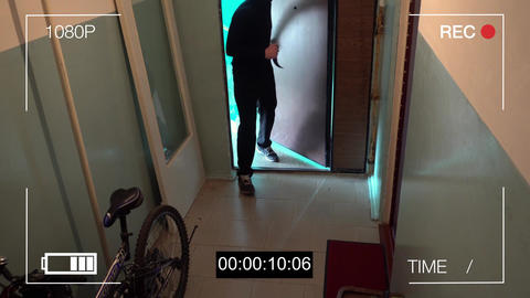 Kursk,Russia,June 30 :the masked robber burst through the door and threatened Footage