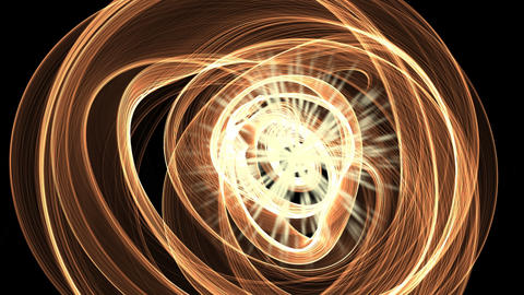 Science fiction animation, plasmatic matter rotating around a fiery source Animation