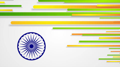 India Republic Day 26 January abstract video animation Animation